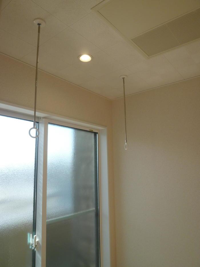 2Fのフリースペースでは室内干しも出来ます。